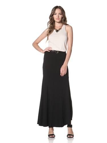 Twenty Tees Women's Maxi Skirt (Black)