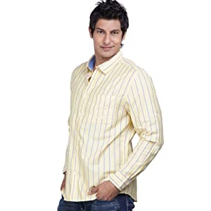 Scullers Yellow Full Sleeves Cotton Men - Casual Shirts