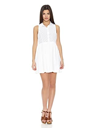Springfield Vestido White Embroidery Dress (Blanco)