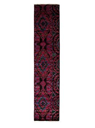 Darya Rugs Ikat Oriental Rug, Black, 2' 7