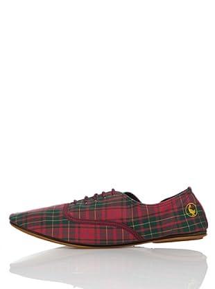 El Ganso Zapatos New Yorker Tartán (Rojo / Verde)
