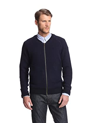 Slate & Stone Men's Leonard Zip Up Jacket (Navy)