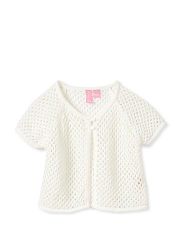 Hype Girls Crochet Sweater Knit Shrug (Ivory)