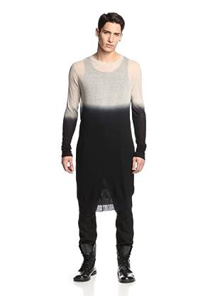 Ann Demeulemeester Men's Extended Dip Dye Sweater (Kashcot Sand/Deep Dye Black)