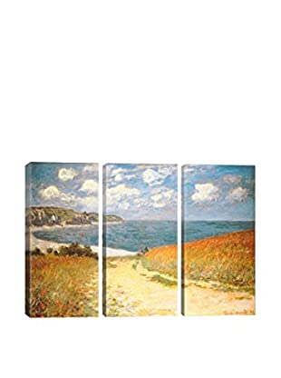 Claude Monet Path Through The Corn At Pourville 3-Piece Canvas Print