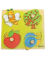 Colorful Wooden Baby Toddler Kids Educational Jigsaw Board Puzzle Alphabet Digit Developmental Panels Fun Toys (#3)