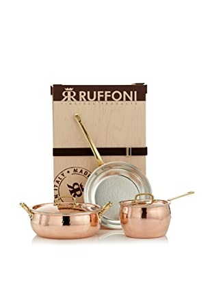 Ruffoni Historia Decor 5-Piece Copper Cookware Set in Wooden Box
