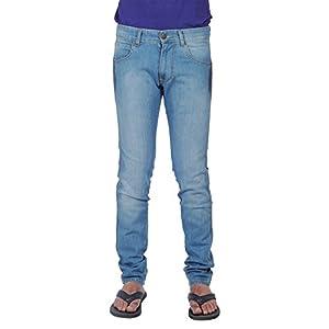 66Jeans Men's Cotton Jeans, Ice Blue