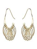 Vidhi's Unique Stylish Gold Cut Dazzle Designer Trendy Earrings