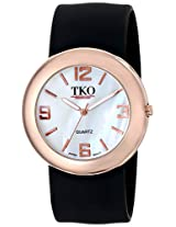 TKO ORLOGI Women's TK614-RBK Watch with Black Rubber Band