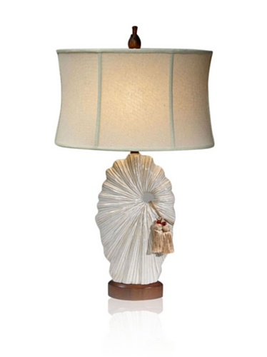 Aqua Vista Eye Of The Storm Table Lamp, Cream