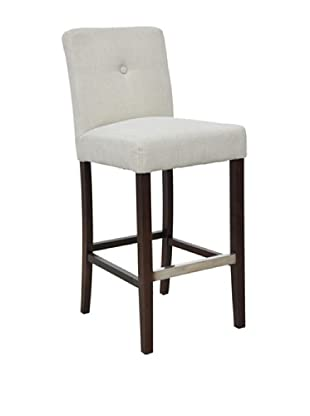 Classic Home Malone Barstool, Jute/Colonial Brown