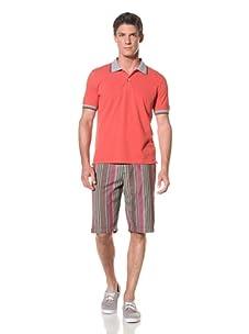 Benson Men's Pique Polo (Candy Red)