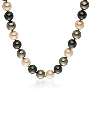 Perldor - 60650203 Collar de mujer Gris de ley con perla natural Verde/Marfil 48 cm