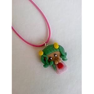 Saakar Polymer Clay Doll Necklace