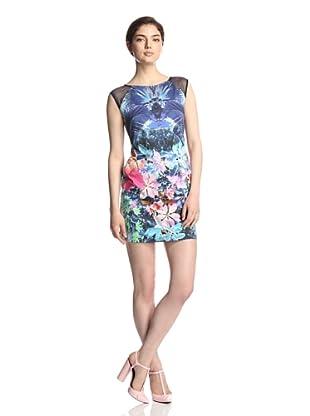 Julia Jordan Women's Printed Cotton Dress (Blue Multi)