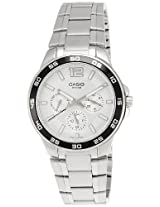 Casio Enticer White Dial Men's Watch - MTP-1300D-7A1VDF (A484)
