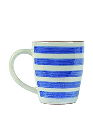 Canvas Home Spongeware 12-Oz. Mug, Blue/White