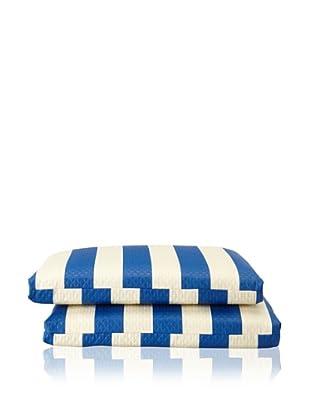 Waverly Set of 2 Sun-n-Shade Solstice Squared Seat Cushions (Marine)