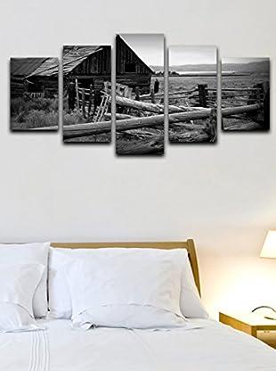 Homemania  Set Panel Decorativo 5 Uds. Canvas Gris