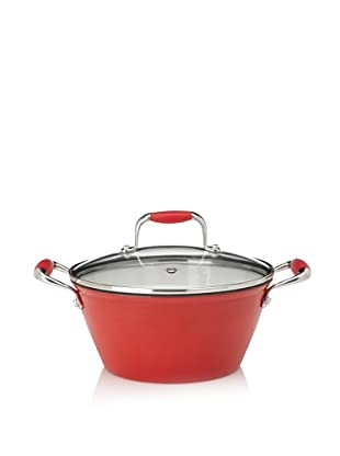 Michelle B. by Fagor Cast Iron Lite Soup Pot with Lid (Red)