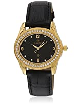 29535Lmly Swarovski Gold Golden/Black Analog Watch