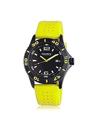 Haurex Men's 3N500UNY Factor Yellow/Black Rubber Watch