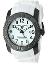 "Swiss Legend Men's 10068-BB-02-SET ""Commander"" Black Ion-Plated Stainless Steel, White Silicone, and White Dial Watch Set"
