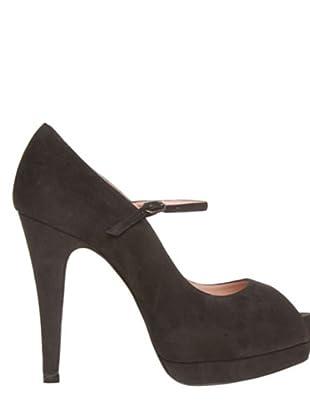 Magrit Zapatos Peep Toe (Cacao)