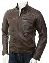 Iftekhar Men's Pure leather Jacket - Black - (Iftekhar28 - XXL)