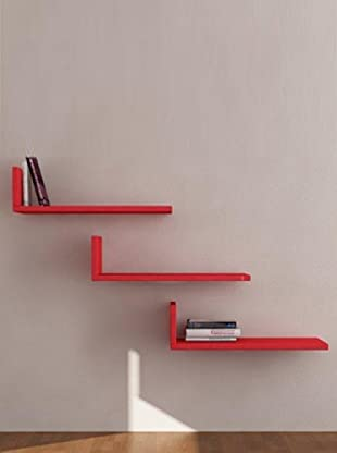 Decortie by Homemania Set 3 Estantes L (Rojo)