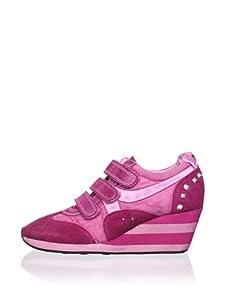 Ash Women's Alfa Wedge Sneaker (Fuchsia)
