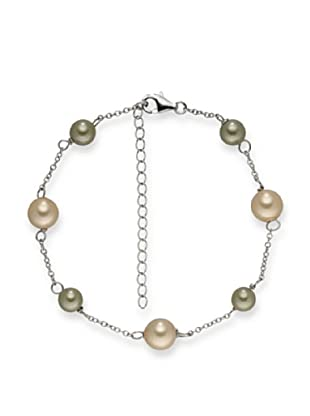 Pearls of London Armband  oliv