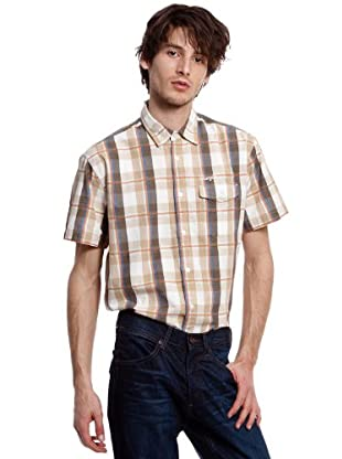 Wrangler Camisa Flap (Blanco / Beige)