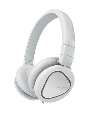 Creative Hitz MA2600 - Auriculares de diadema cerrados (con micrófono), blanco