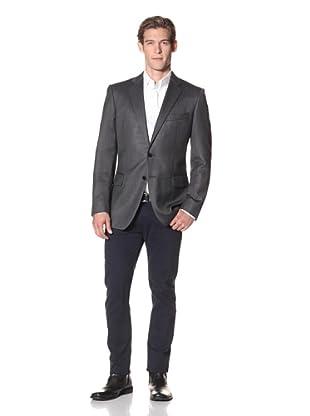 Joseph Abboud Men's Hudson Fit Solid 2-Button Sportcoat (Grey)