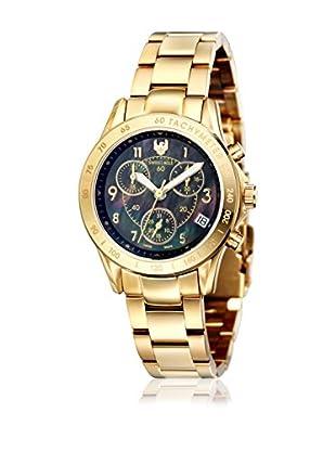 Swiss Eagle Uhr mit Schweizer Quarzuhrwerk Talon goldfarben 34 mm