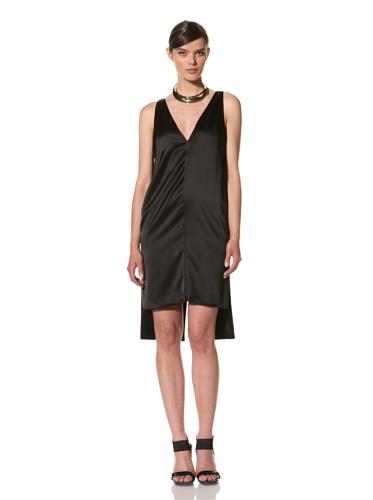 Juan Carlos Obando Women's Plunging Back V Dress (Black)