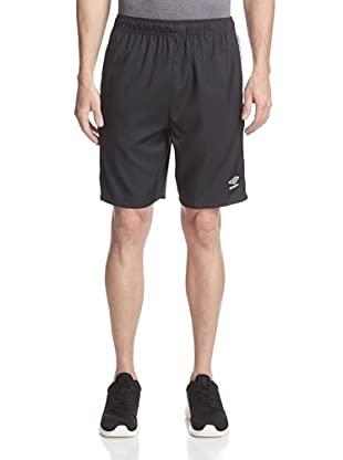 Umbro Men's Aztec Stripe Soccer Short (Black/White)