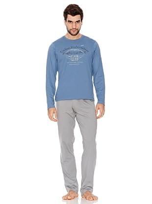 Abanderado Pijama Uf Rugby (Azul / Gris Claro)