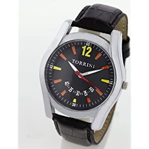 Torrini Silver Men Analog Wrist Watch-Black