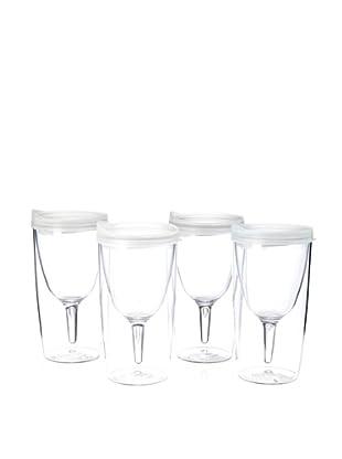 AdNArt Set of 4 Vino 2 Go Cups (White)