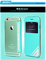 USAMS Ultra thin Window View Leather Flip Case Cover for IPhone 6 Plus -GREEN