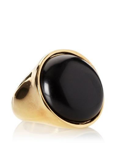 Jules Smith Boho Ring, Yellow Gold/Black