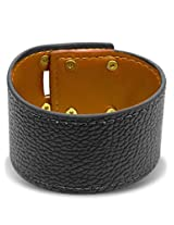 Peora Bold Black Men's Bracelet (PXB43)