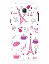 Noise Eiffel Tower-White Printed Cover for Samsung Galaxy J5
