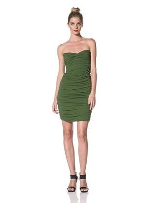 Norma Kamali Women's Walter Bill Shirred Dress (Olive)