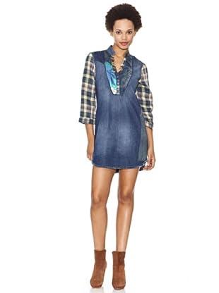 Desigual Vestido Indie (jeans vaquero)