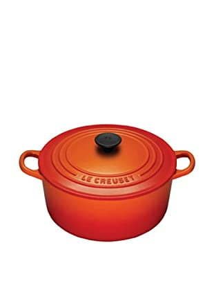 Le Creuset Signature Round French Oven & Bonus Cleaner (Flame)