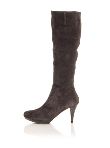 Pura Lopez Women's Suede Platform Boot (Dark Grey)
